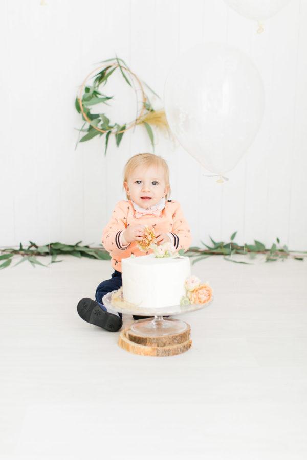 Séance photo Smash the Cake avec ballon