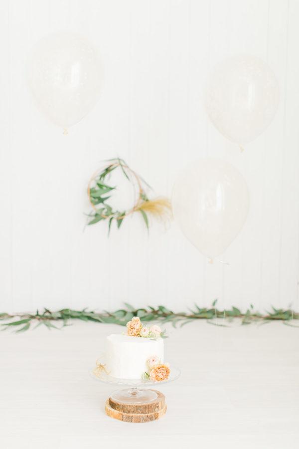 Décors de séance photo anniversaire avec gâteau
